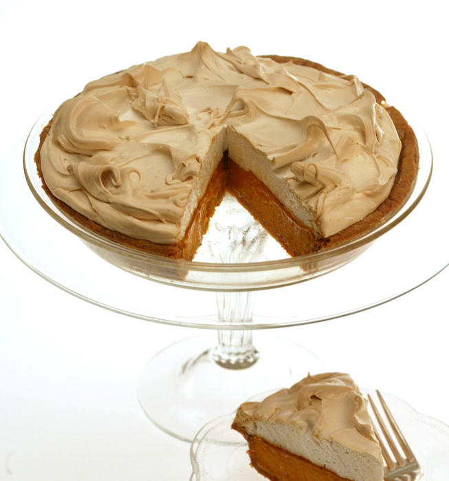 'Pumpkin' custard meringue pie