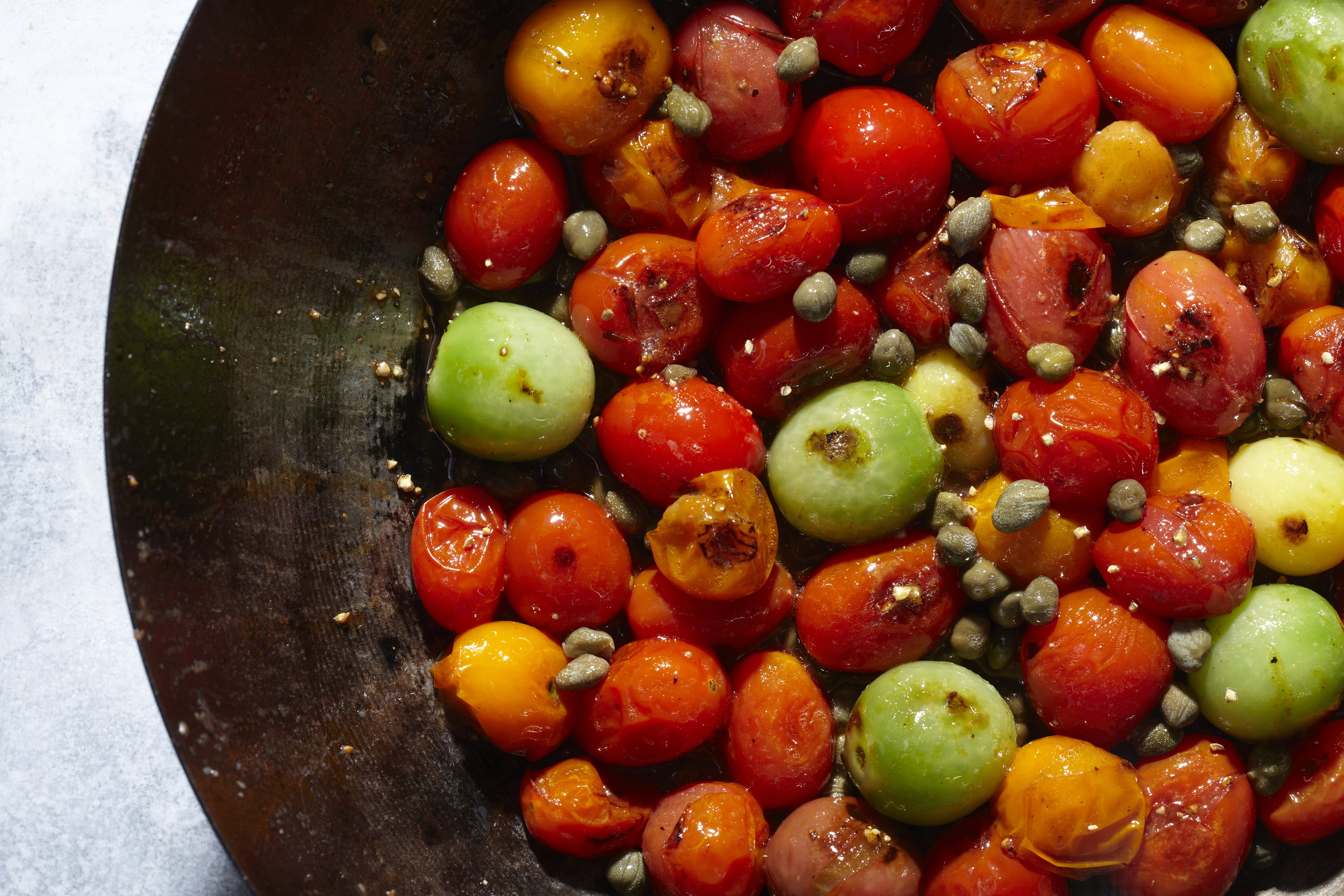 5-Minute Blistered Tomatoes and Capers