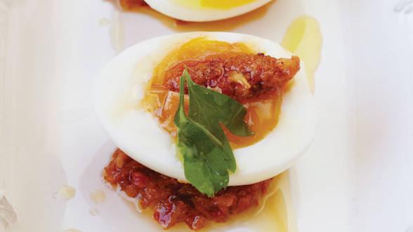 6 Minute Eggs with Romesco
