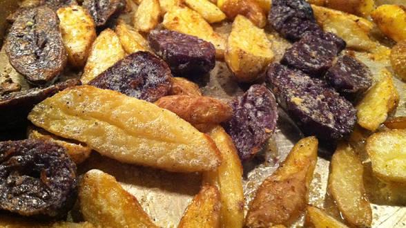 Alfredo Potato Finger Fries