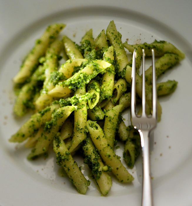 Almond watercress pesto