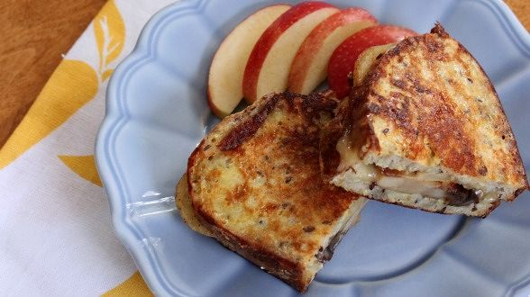 Apple, Cheddar and Mushroom Monte Cristos