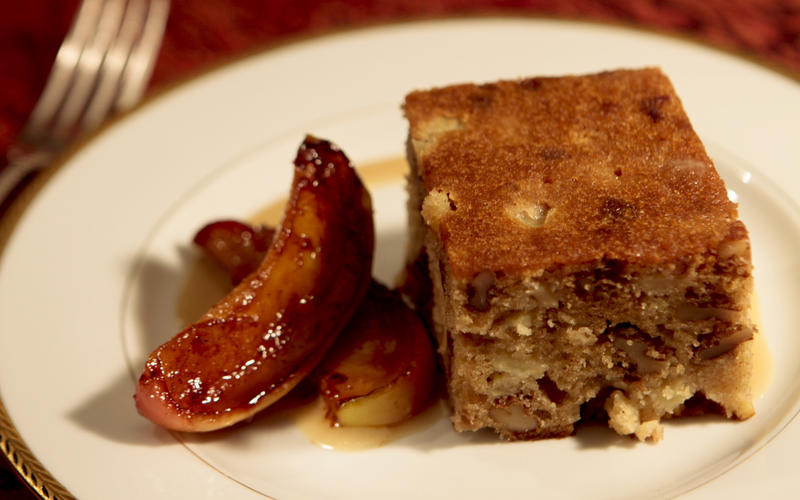 Apple date honey cake