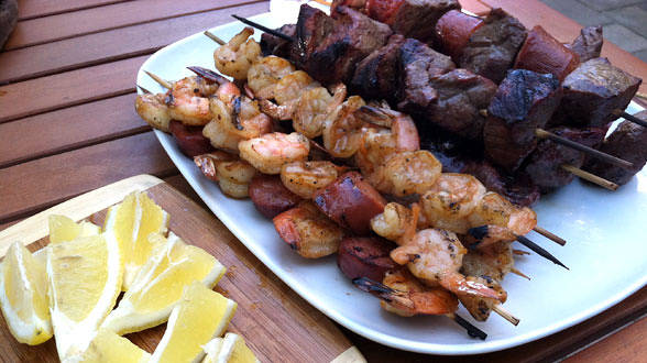 Argentinean Surf-and-Turf Skewers with Chimichurri