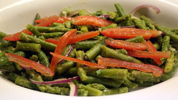 Asparagus and Green Bean Salad