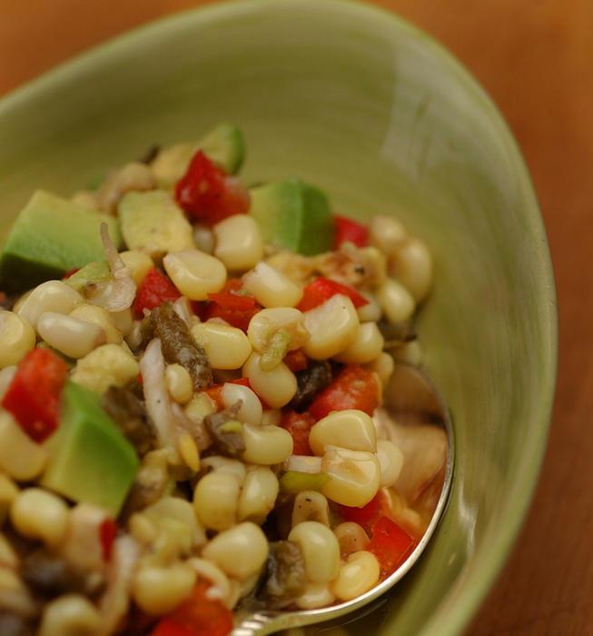 Avocado corn relish
