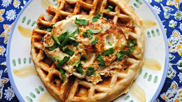 Bacon, Cheddar and Ranch Waffle