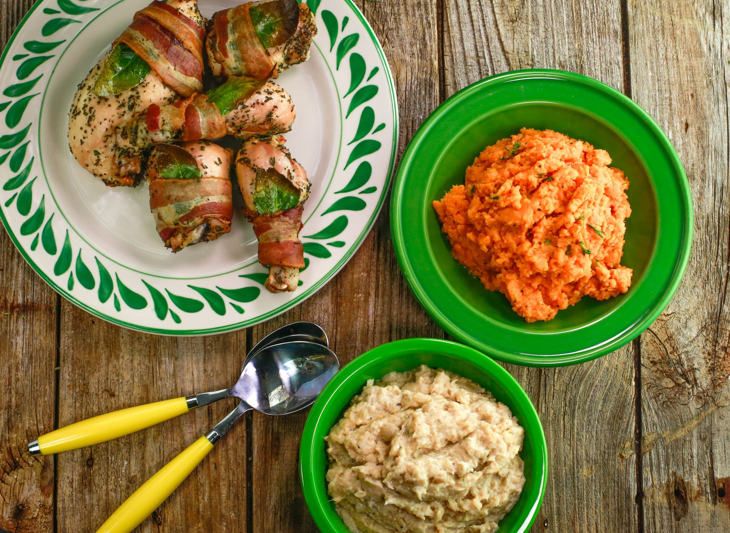 Bacon-Wrapped Chicken with Herbs