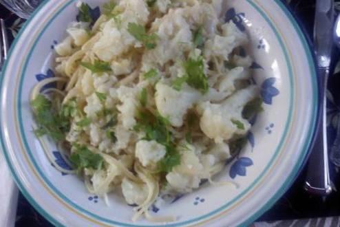 Bagna Cauda Cauliflower Pasta