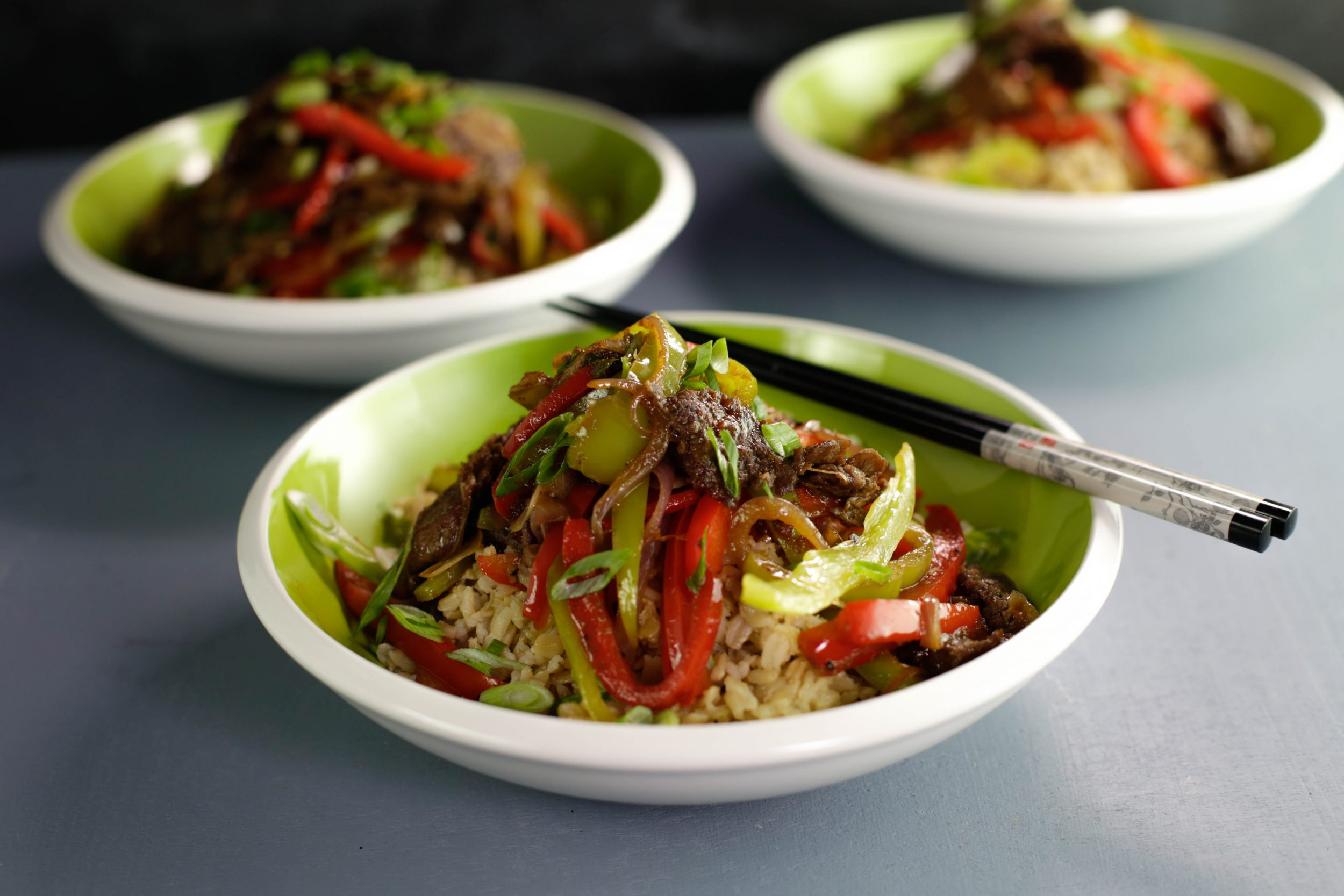 Barbecued Beef and Pepper Stir-Fry