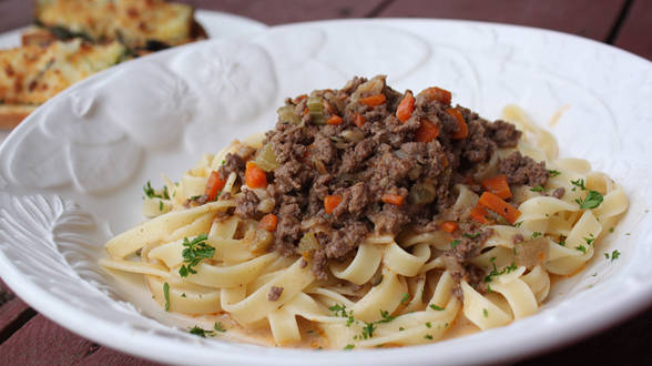Bolognese with Pappardelle