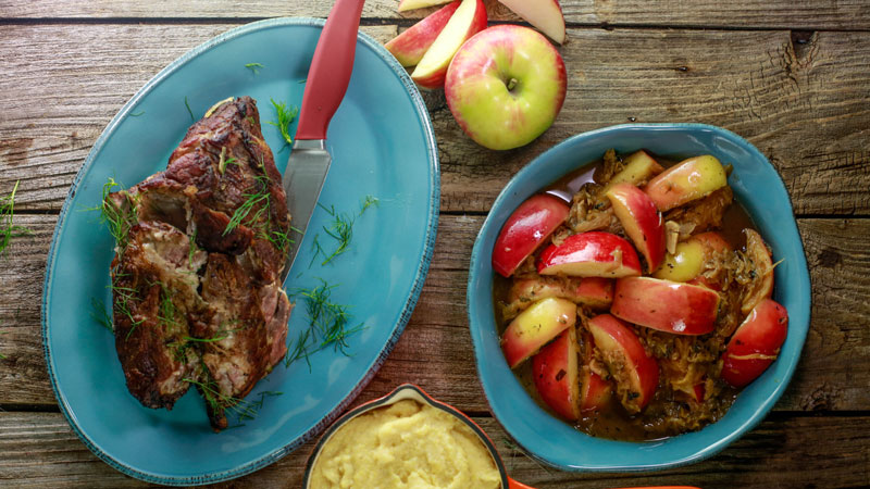 Braised Pork with Fennel, Apples and Onions