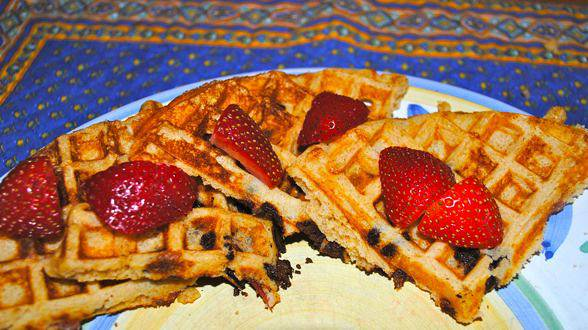 Breakfast for Dinner: Crazy Bacon and Chocolate Waffles and Mulled Maple Syrup