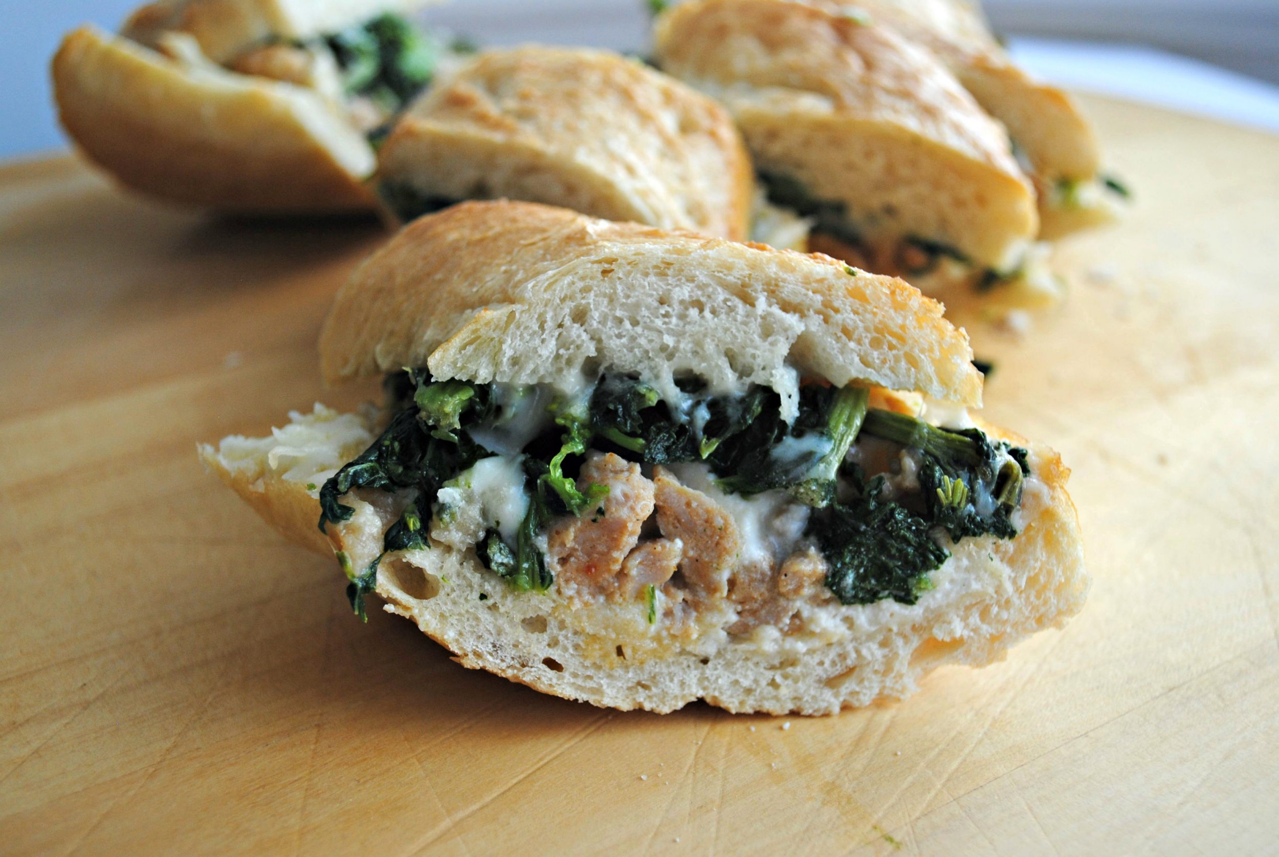 Broccoli Rabe and Sausage Bites