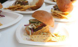 Brooklyn Barbecue Chili Burgers with Oil and Vinegar Slaw