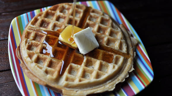Brown Sugar, Lemon Zest Waffles