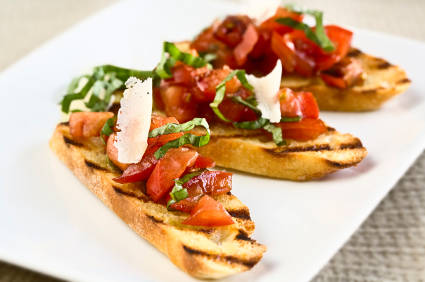 Bruschetta with Hot Cherry Tomatoes