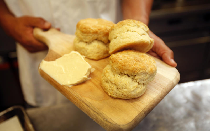 Buttermilk biscuits and burnt orange honey butter