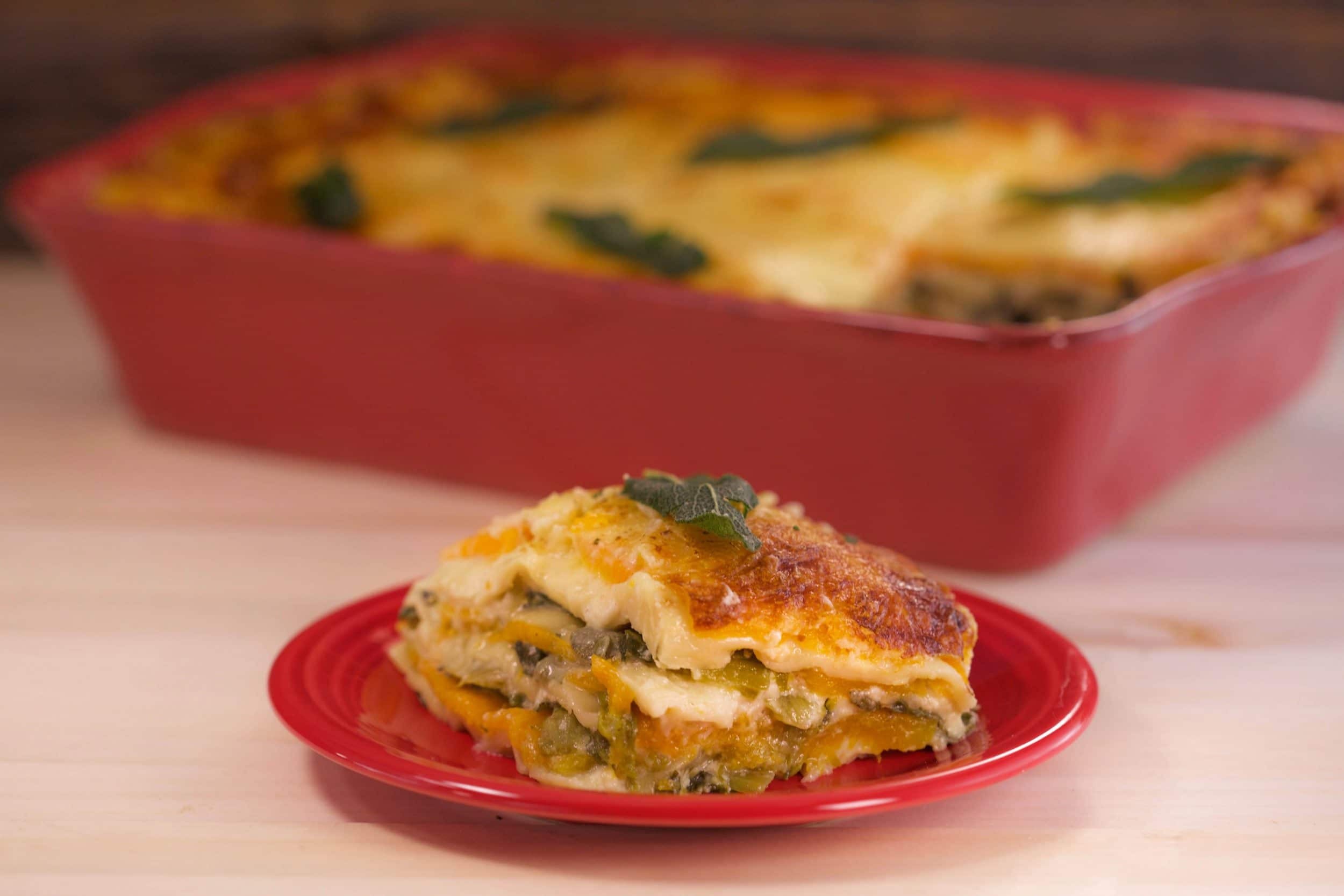 Butternut Squash and Escarole Lasagna