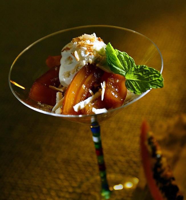 Candied papaya parfaits