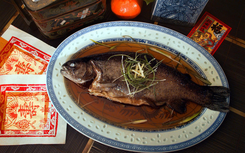 Cantonese Poached Fish With Ginger and Green Onions