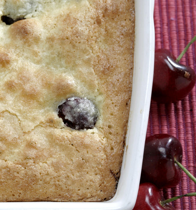 Cherry-almond cobbler