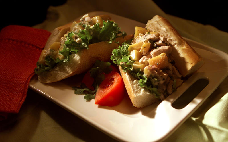 Chicken and Citrus Salad Sandwiches