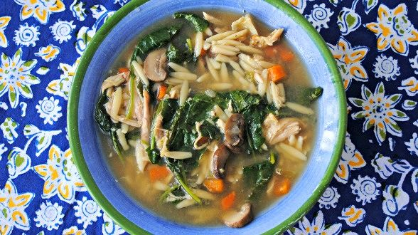 Chicken and Pearled Barley (Orzo) Soup