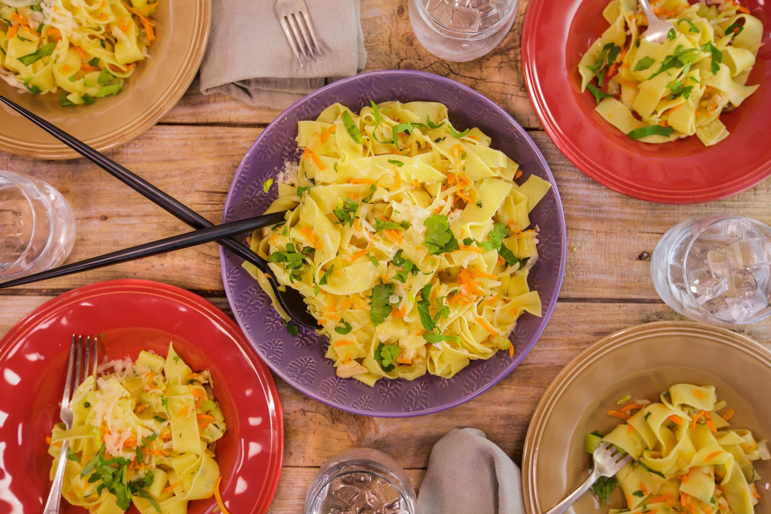 Chicken and Vegetable Tagliatelle