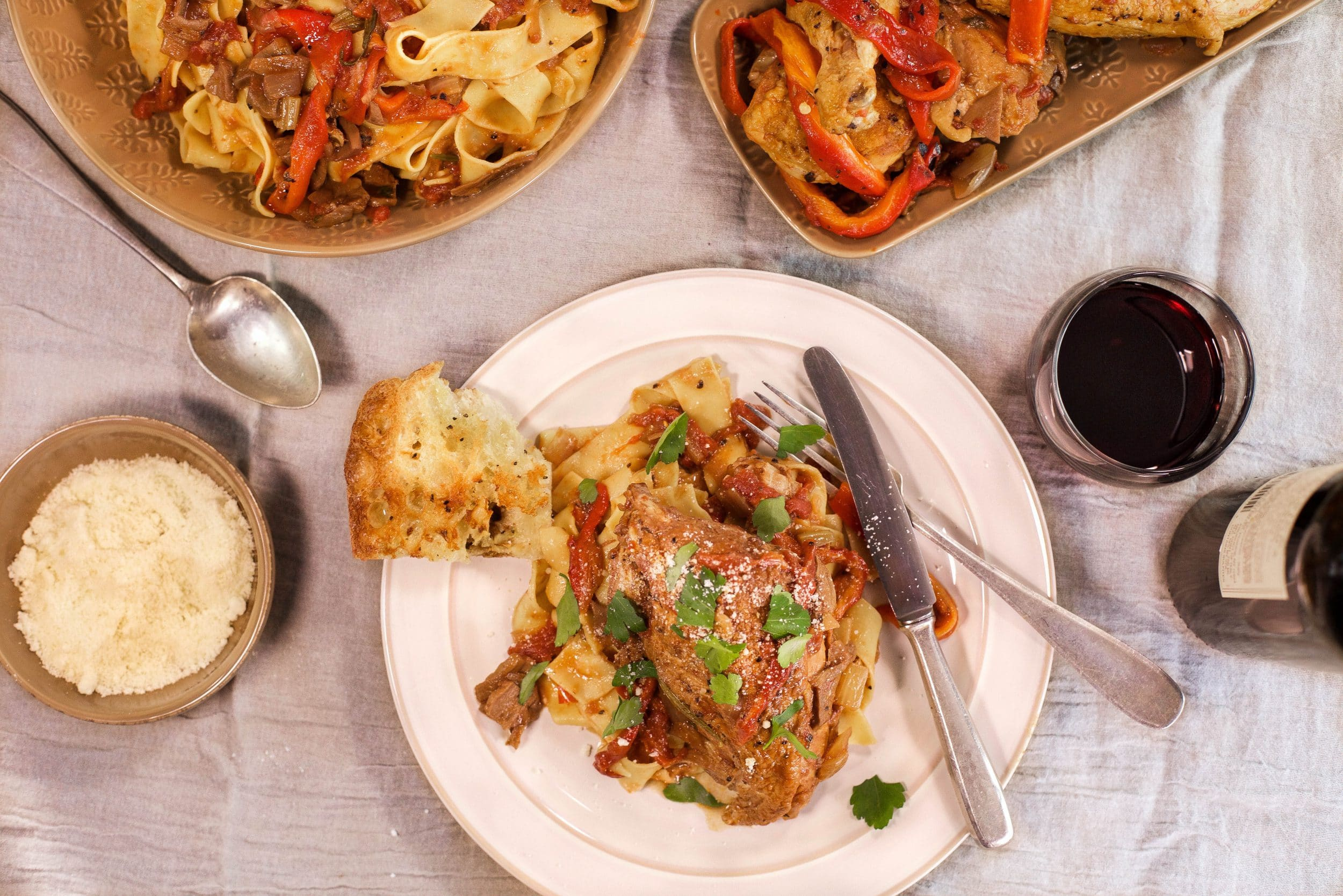 Chicken Cacciatore with Roasted Peppers