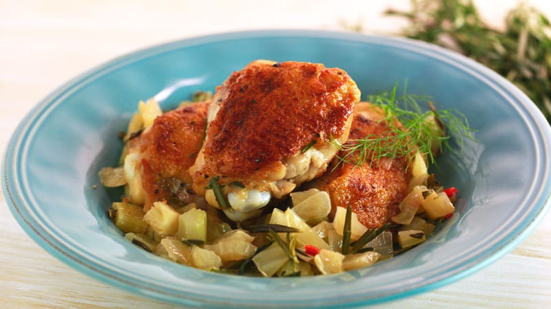 Chicken One-Pot with Lemon and Rosemary