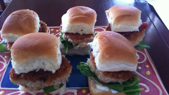 Chicken or Veal Parm Sliders