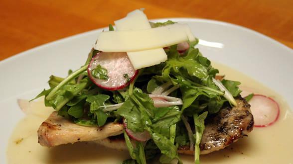 Chicken Paillards with Arugula Salad