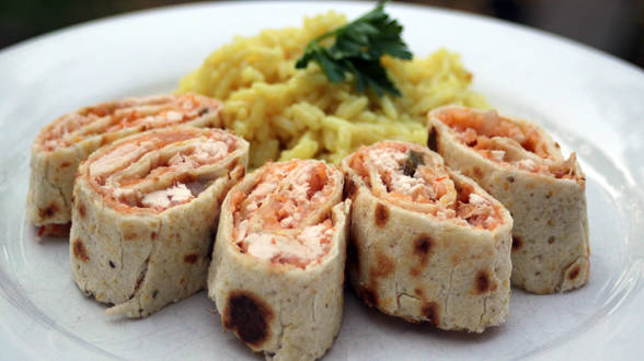 Chicken Quesadilla Pinwheels