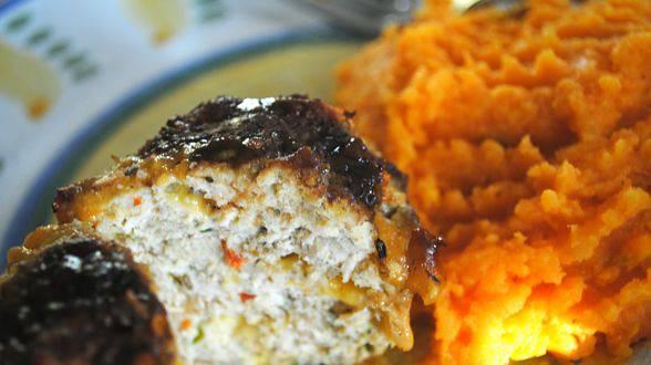 Chipotle BBQ Turkey Mini Meatloaves