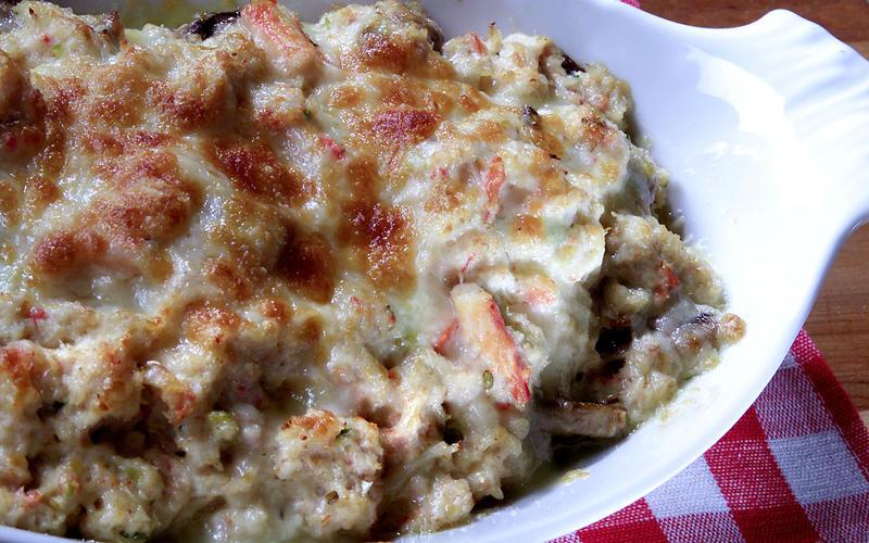 Crab Meat au Gratin