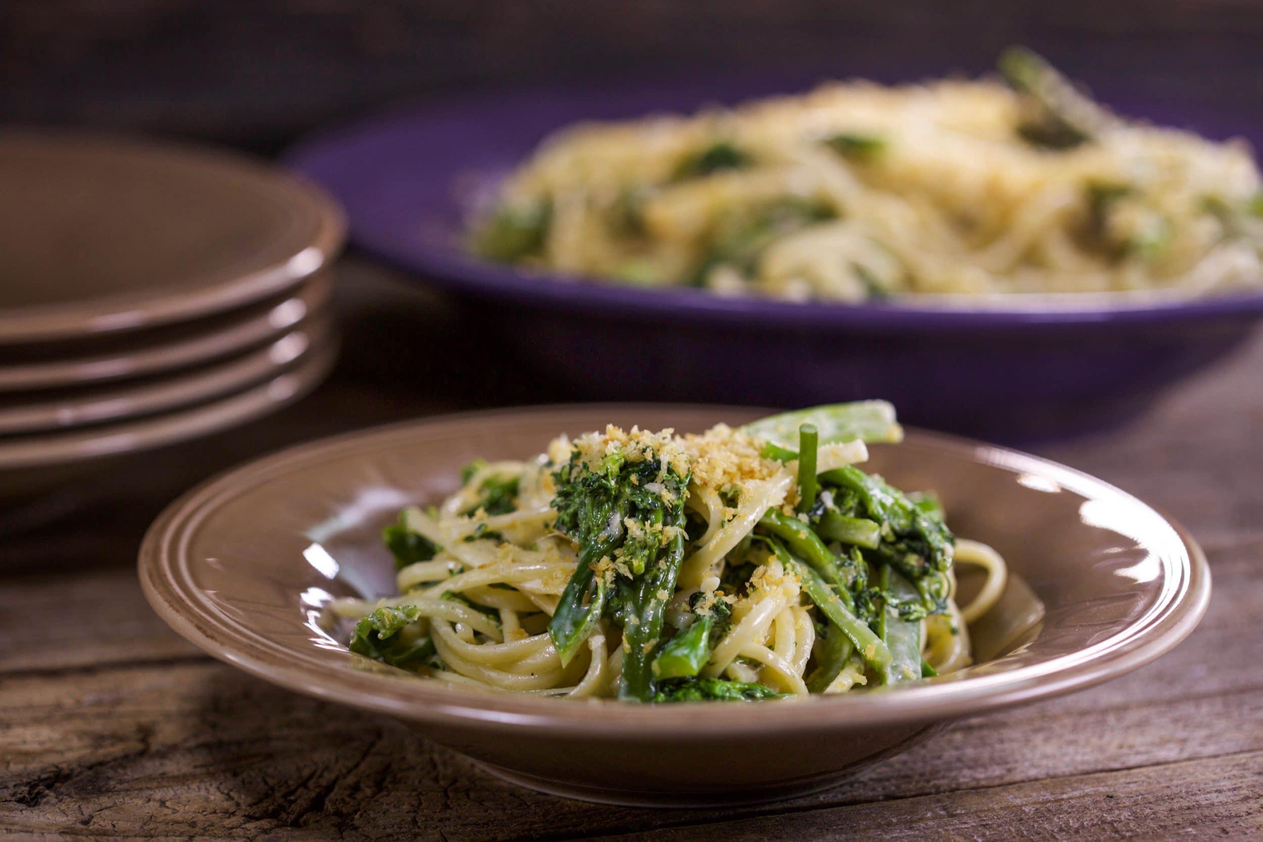 Creamy Linguine with Broccolini