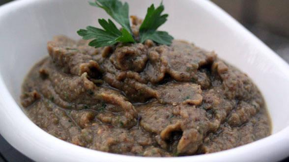 Crostini Bar: Smoky Eggplant and Roasted Garlic Spread