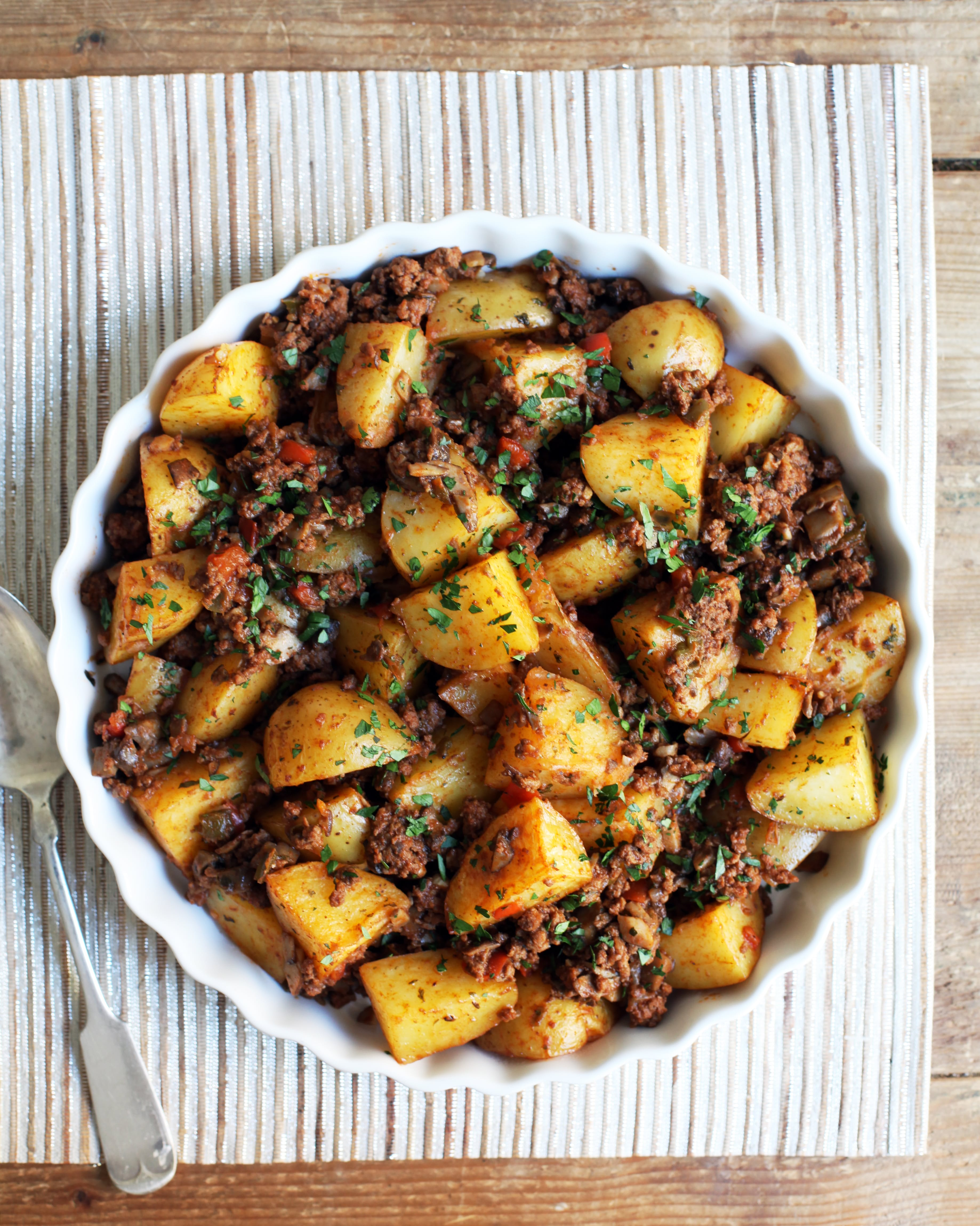 Cuban Meaty Potato Stuffing Recipe