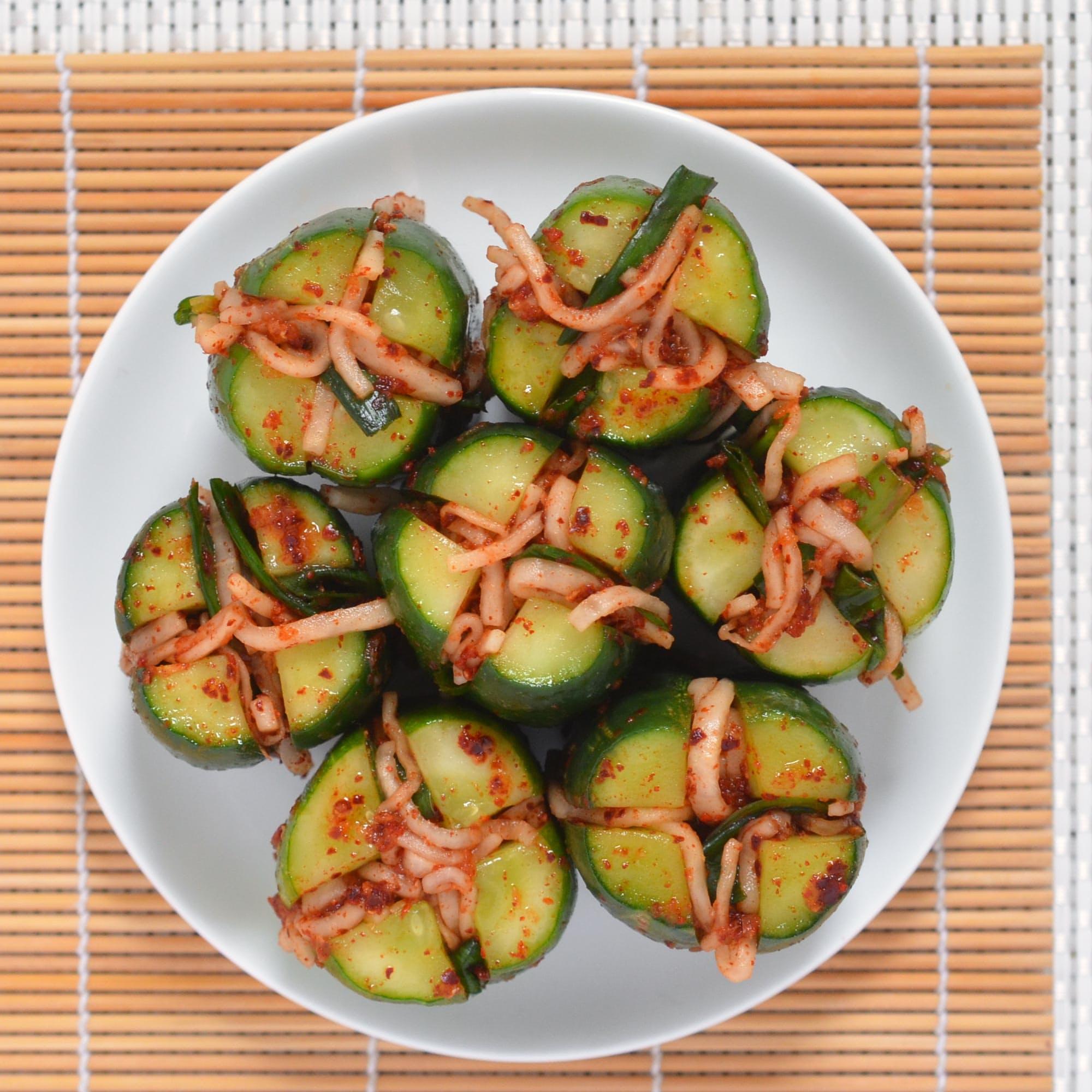 Cucumber Kimchi Bites