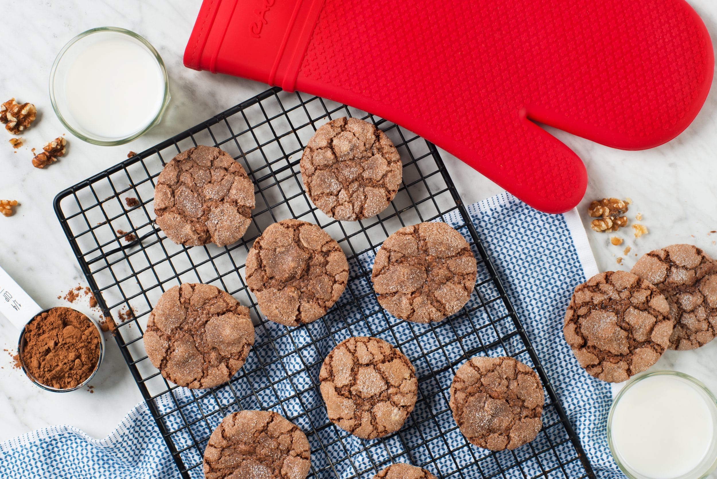 Dutch Cocoa Walnut Cookies