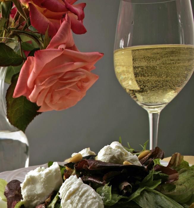 Field salad with fresh balsamic vinaigrette