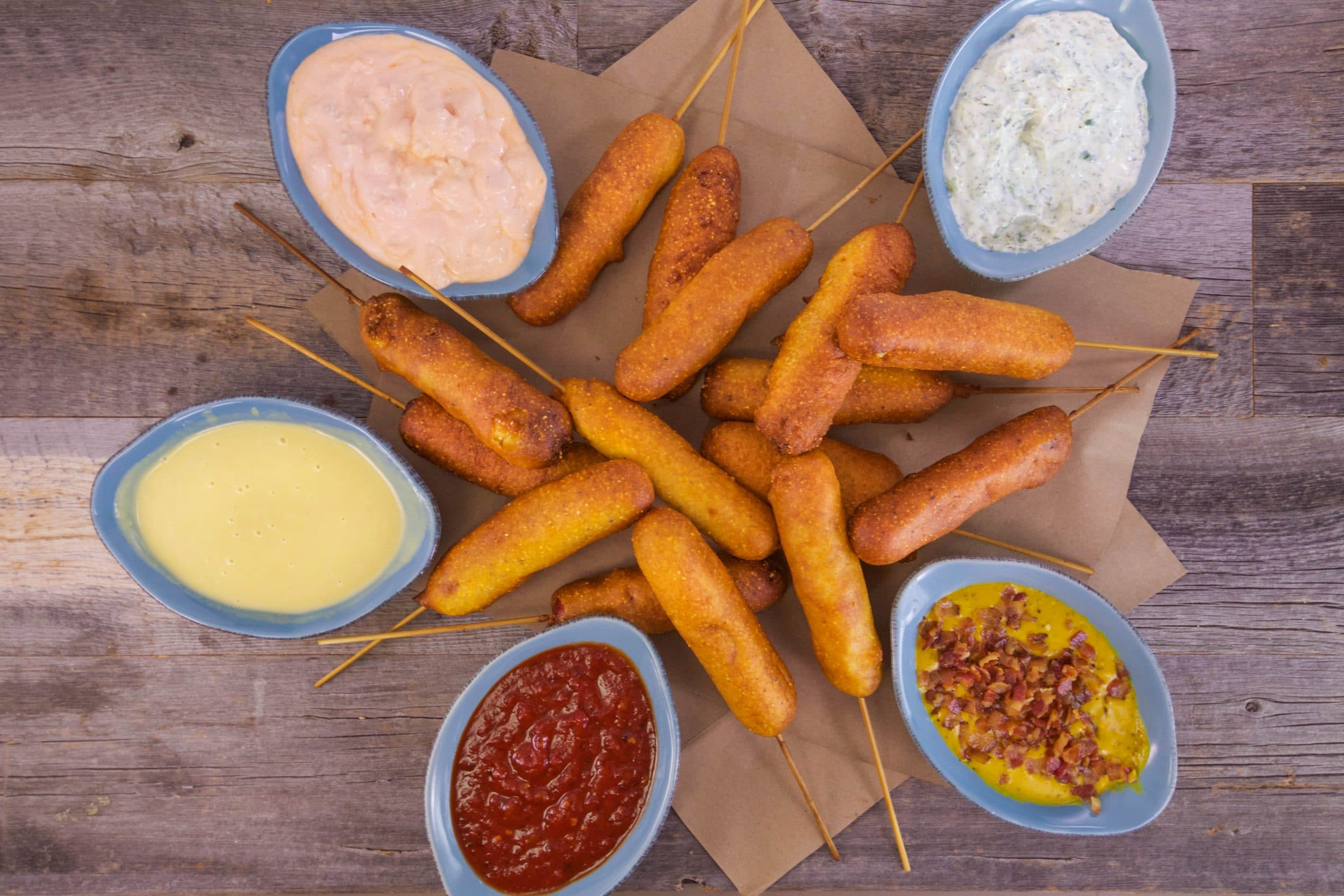 Firecracker Deviled Corn Dogs
