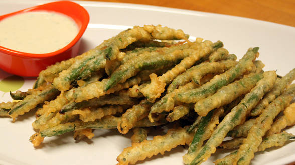 Fried Green Beans and Wasabi Ranch