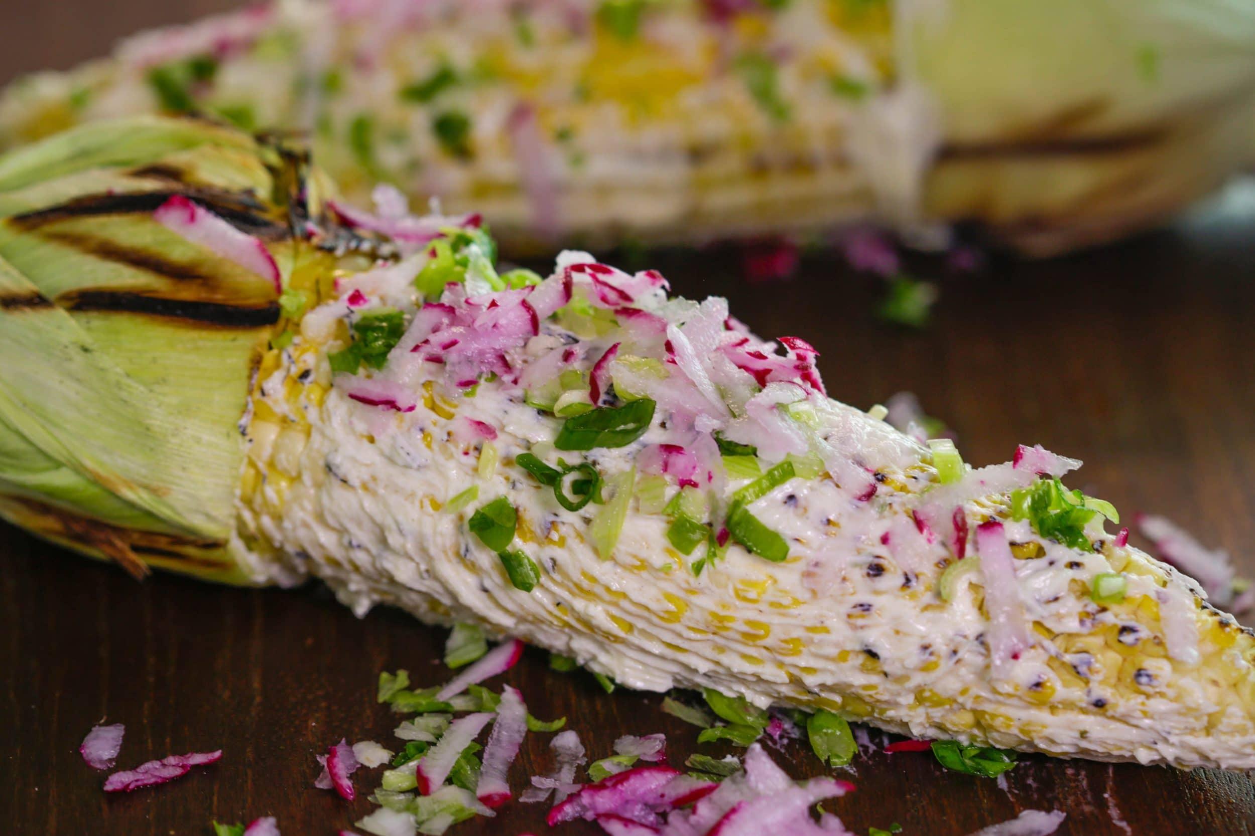 Garlicky Garden Grilled Corn