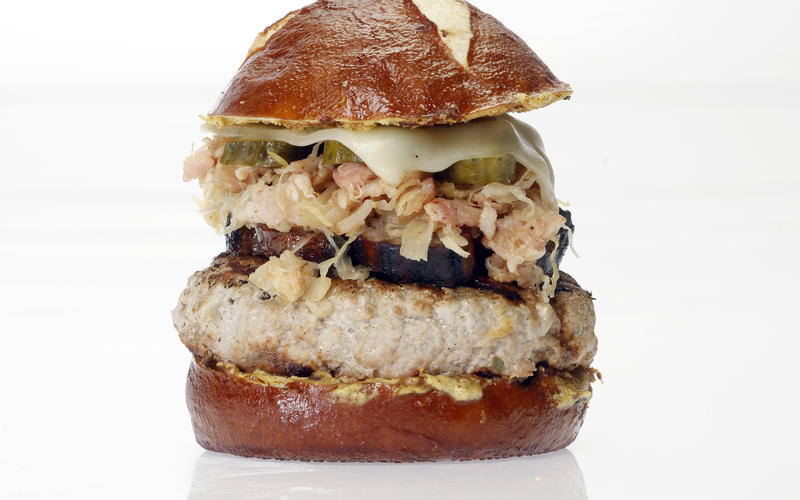 German Cuban pork burger