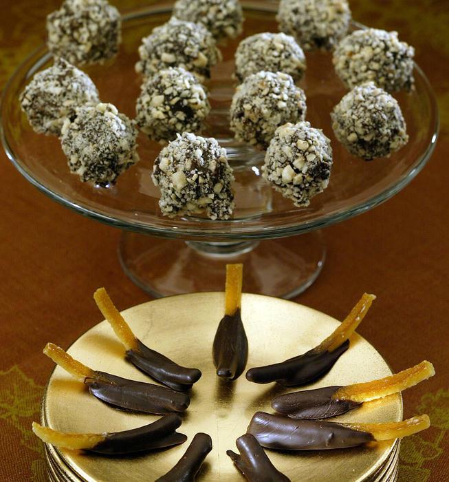 Gianduja truffles