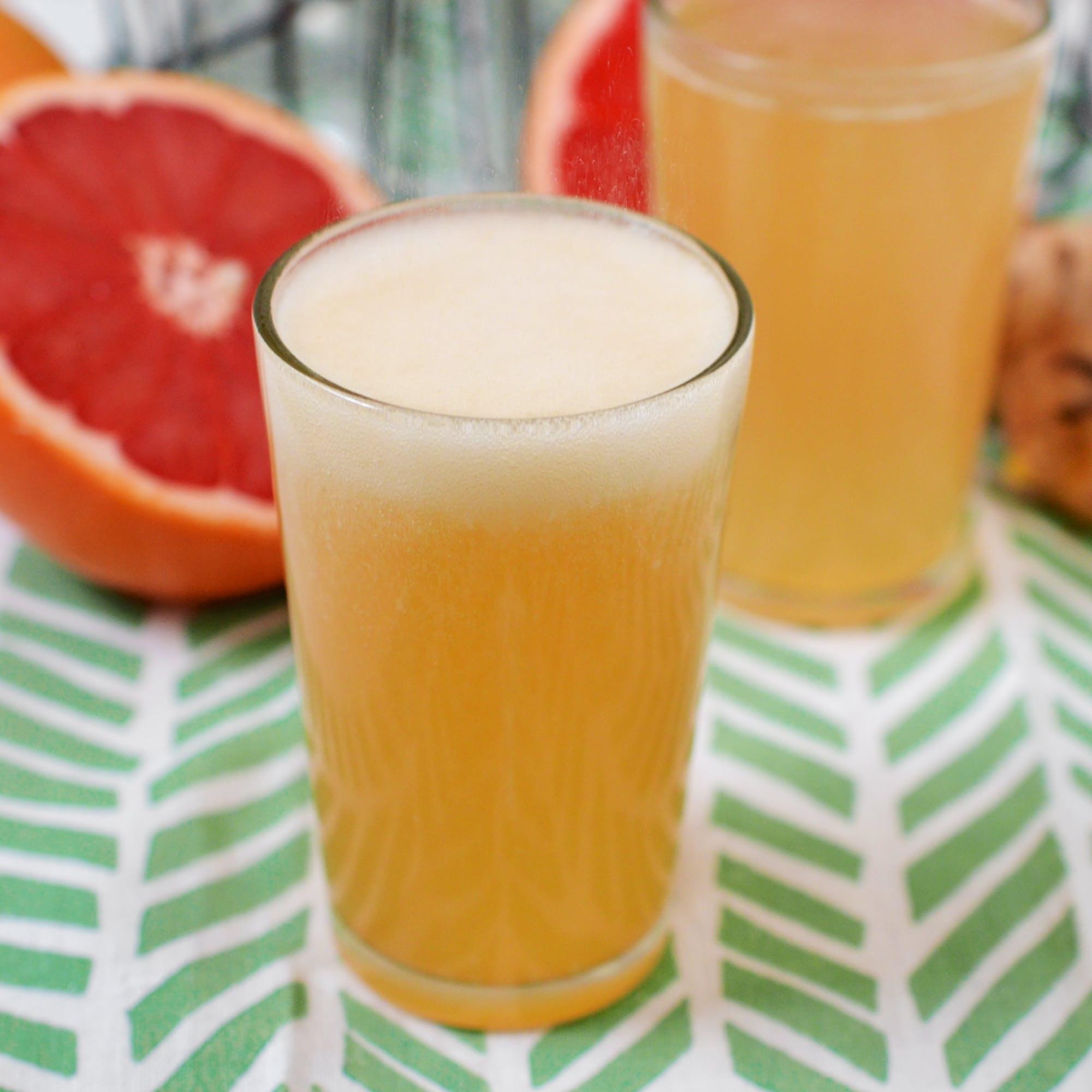 Grapefruit Honey Ginger Soda