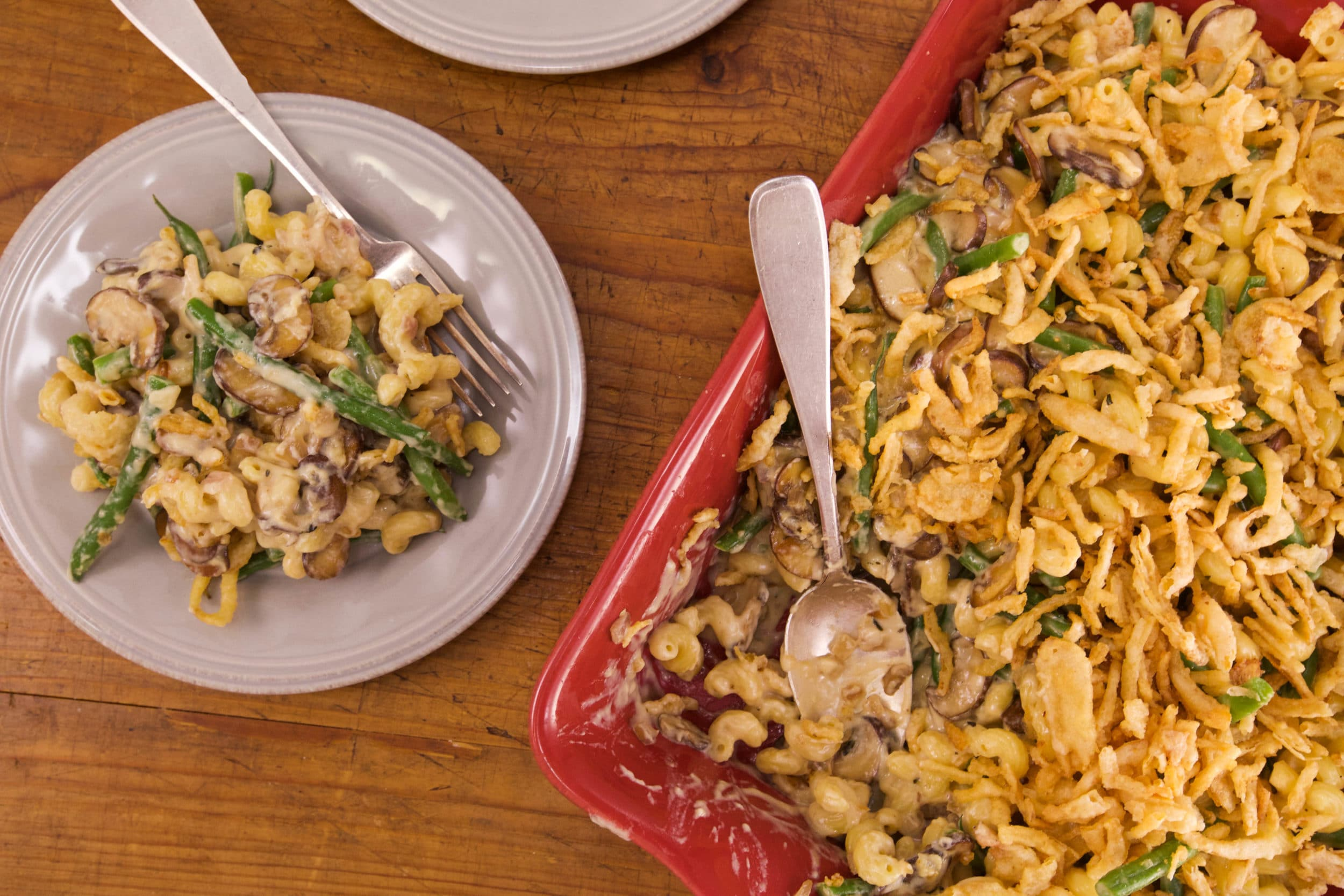 Green Bean and Mushroom Mac Casserole