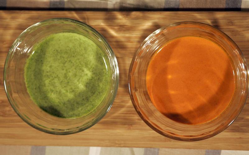 Green cilantro sauce (mojo verde)